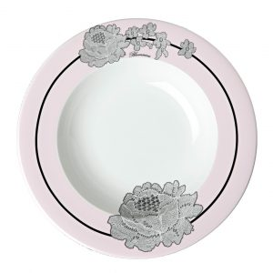ROSE LACE SOUP PLATE (Set 6 pcs)