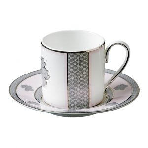ROSE LACE COFFE CUP & SAUCER