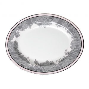 ROSE LACE OVAL DISH