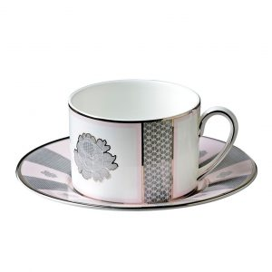 ROSE LACE TEA CUP & SAUCER